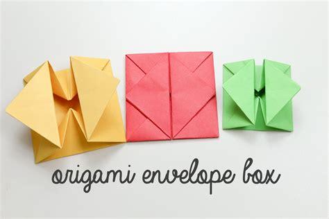 Origami Envelope Rectangle Paper - origami envelope box tutorial