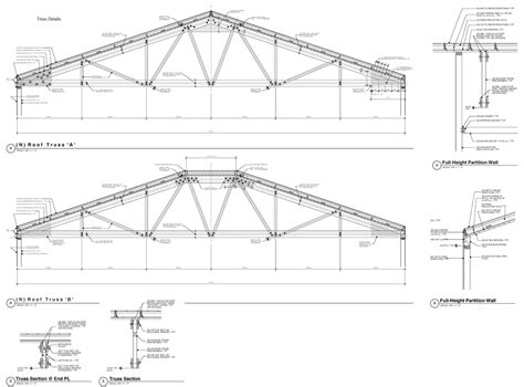 truss section detail 45 foot wood trusses commercial bldg oakland sally