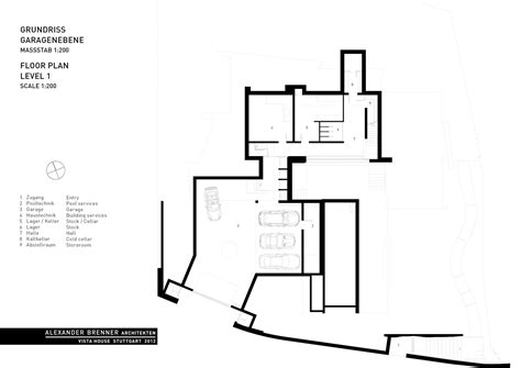 House Floor Plan Gallery Of Vista House Alexander Brenner Architects 18