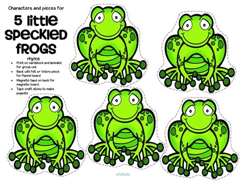 Frog Printable free speckled frogs coloring pages