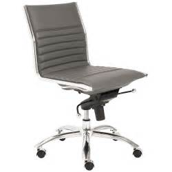 Grey Armless Desk Chair Dirk Modern Armless Low Back Office Chair Gray
