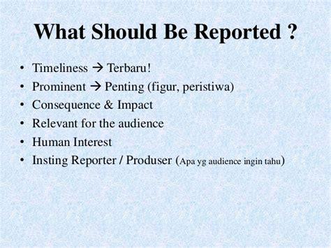 format berita sot making a good live report by rory asyari