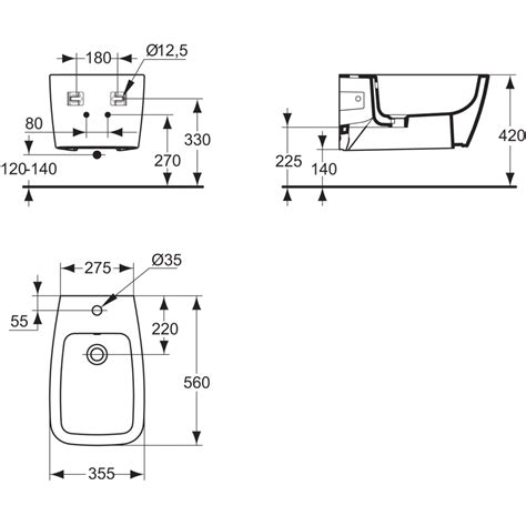 Bidet Sospeso Selnova 3 Scheda Tecnica by Product Details T5151 Wall Mounted Bidet Ideal Standard