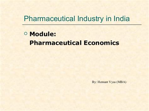Mba In Pharmaceutical Companies In India market structure pharma in indian scenario