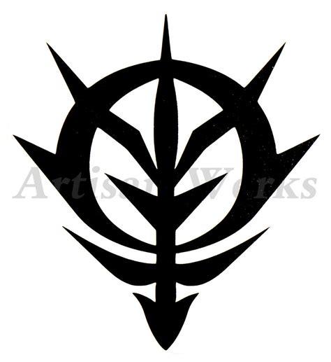 Sticker Stiker Cutting Gundam Unicorn zeon logo gundam 0079 vinyl decal sticker robot anime wall window car ebay
