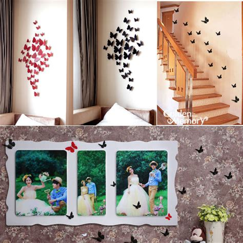 butterfly home decor aliexpress com buy 12 pcs 3d wall sticker stickers