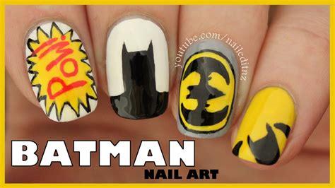 nail art batman tutorial batman nail art youtube