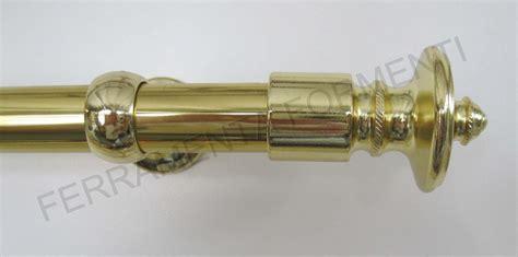 tubi per tende tubo per tenda color oro lucido con finali stile impero