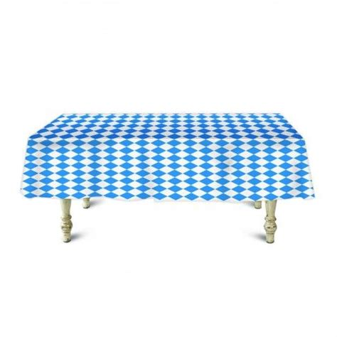bavarian check banquet roll table cover  feet table