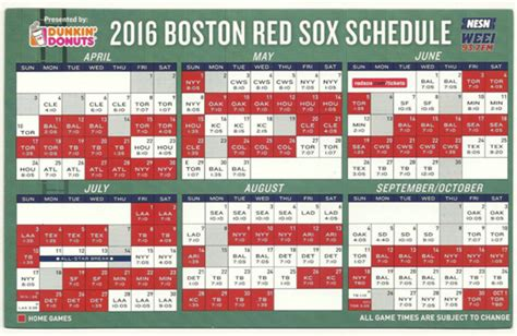 red sox printable schedule red sox printable red sox 2016 schedule calendar