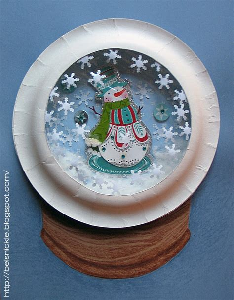 craft a christmas paper plate snow globe belznickle