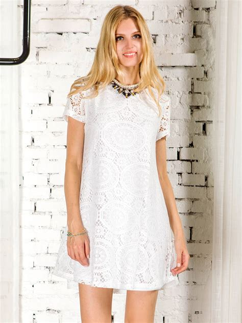 Sleeve Lace A Line Dress white lace sleeve a line dress thanks giving day