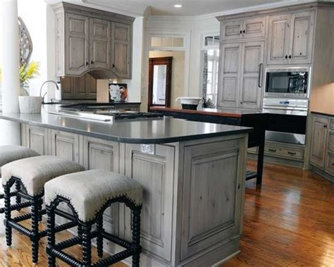 grey wash kitchen cabinets gray stained washed hickory cabinets house pinterest