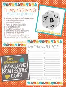 printable thanksgiving games thanksgiving scattergories printables u create