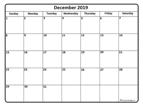 Calendar 2019 December December 2019 Calendar December 2019 Calendar Printable