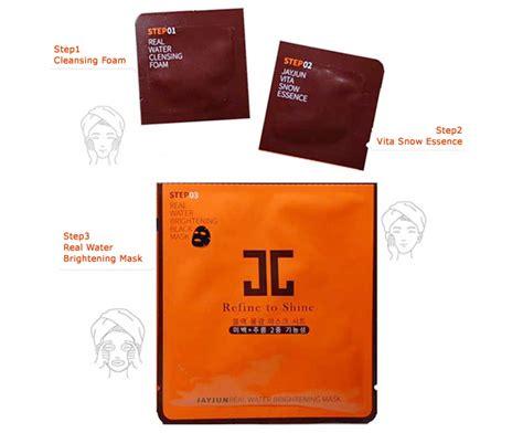 Premium Jayjun Real Water Brightening Black Mask Refine To Shine jayjun refine to shine real water brightening black mask sheet 3 step ebay