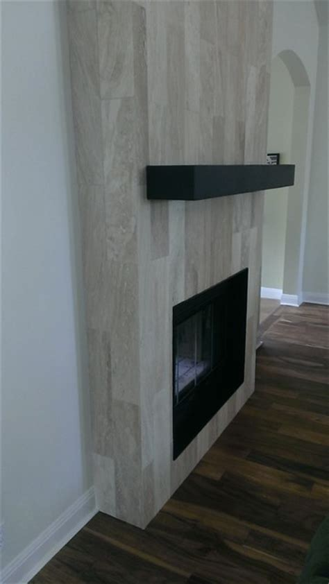 Awesome Tile Designs For Fireplaces #2: Contemporary-living-room.jpg