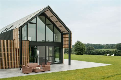 modern barn house belgian barn is transformed into a gorgeous contemporary home inhabitat green design