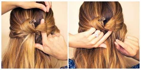 tutorial rambut gaya ikat pita unik dan modern