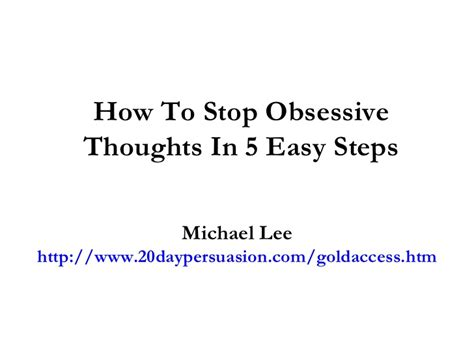 how to avoid my in ten simple steps pocket edition books how to stop obsessive thoughts in 5 easy steps
