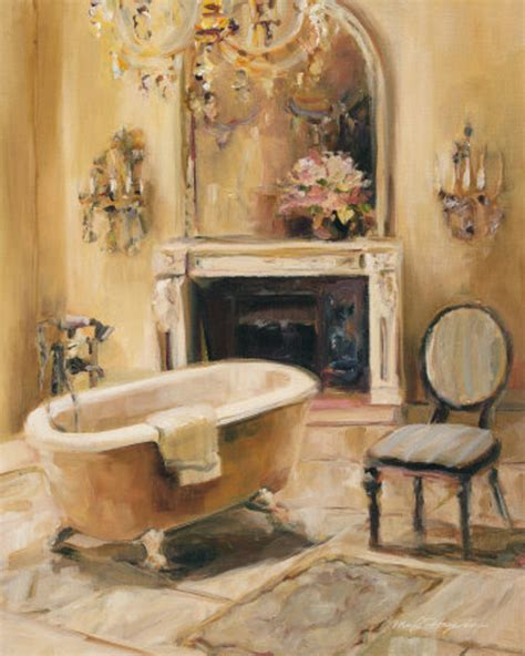 bathtub paintings french bath i print by marilyn hageman at all posters com