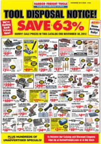Harbor Freight Harbor Freight Tools Sale November 2012 Flyer