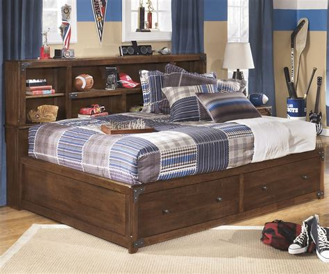 Bedroom Furniture Boys Delburne Size Storage Bed B362 Furniture Captains Bed With Drawers