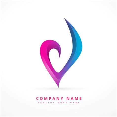Template Logo Design by Colorful Abstract Logo Template Vector Free