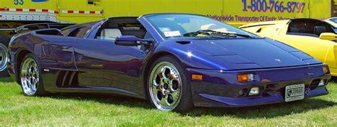 Blue Lamborghini Diablo Lamborghini Diablo Roadster Blue Side Angle