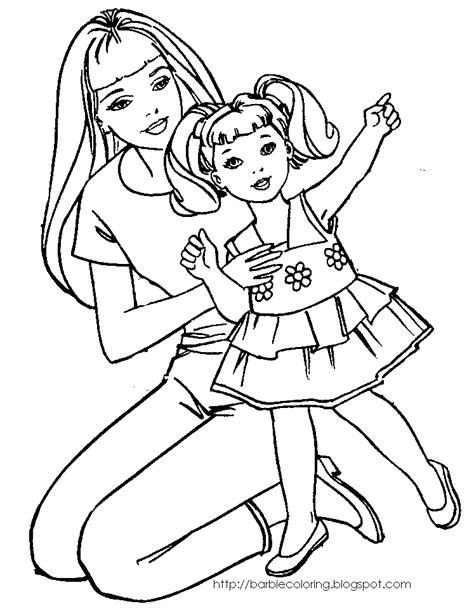coloring pages printables barbie barbie coloring pages coloring pages of barbie with kelly