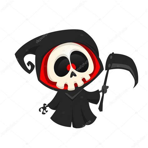 imagenes de halloween viros animados personagem de desenho animado do grim reaper isolada em um