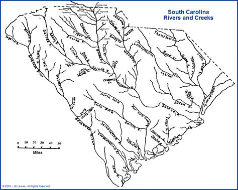 map of carolina rivers and creeks carolina south carolina rivers creeks