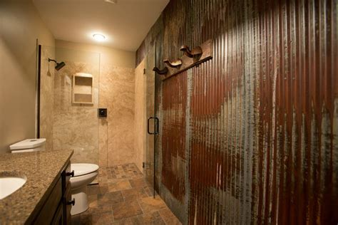 corrugated metal bathroom walls corrugated metal bathroom google search bee ridge