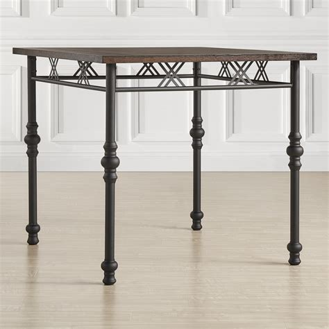 Rustic Bar Height Dining Table Oxford Creek Audra Rustic Industrial Counter Height Table Home Furniture Dining Kitchen