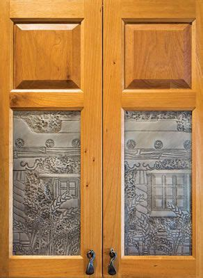 Kitchen Cabinets With Tin Inserts Punched Tin Cabinet Insert Things I Like