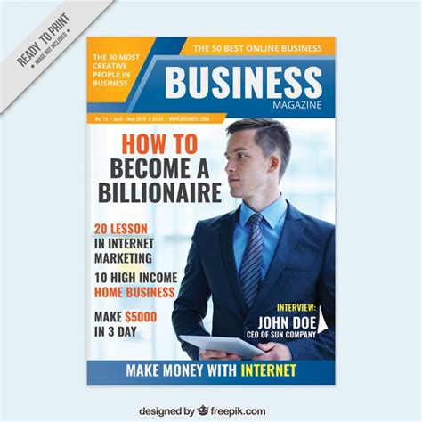 corporate magazine template business magazine cover design vector free