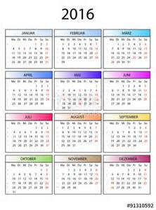 Kalender 2018 Veckonummer Quot Kalender 2016 Bunte Monate Quot Stockfotos Und Lizenzfreie