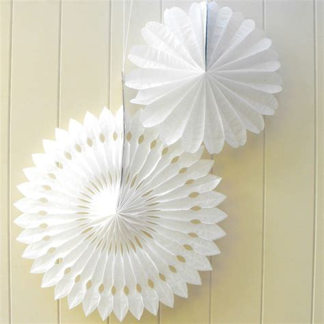 How To Make Hanging Paper Fans - 16 quot grey tissue paper hanging fan wedding background