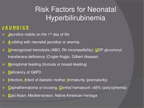 Nonoptimal hyperbilirubinemia