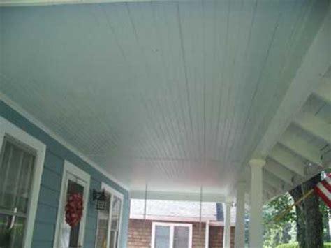 Beadboard Porch Ceiling Doityourself Com Porch Ceiling Beadboard