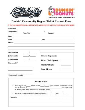 Dunkin Donuts Application Form Printable