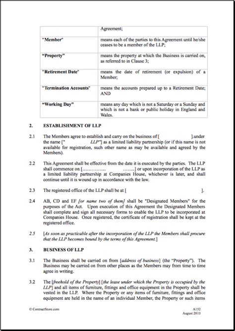 llp agreement template free printable liability form template form generic