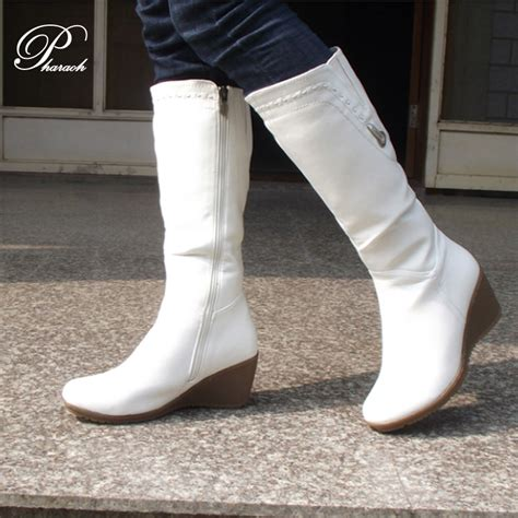 womans white boots white leather boots boot hto