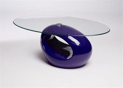 purple coffee table contemporary retro designed oval coffee table black