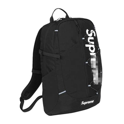 supreme backpack supreme 17ss 42th backpack black