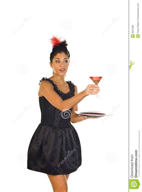 cocktail waitress royalty free stock images image 6567099