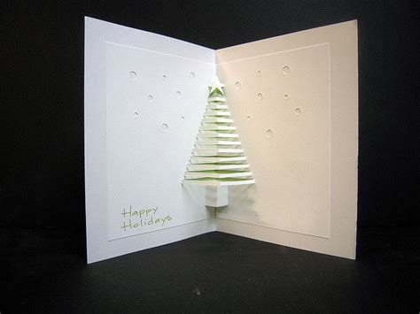 christmas tree pop out card create pinterest