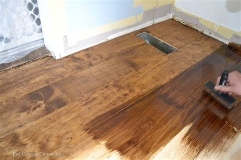 diy wood floor l hometalk wood floor plywood redo