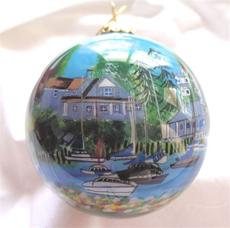 cape cod harwich port christmas ornament the crystal