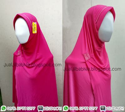 Jilbab Syari Pink Fanta jilbab nia jilbab nia silang payet pink fanta